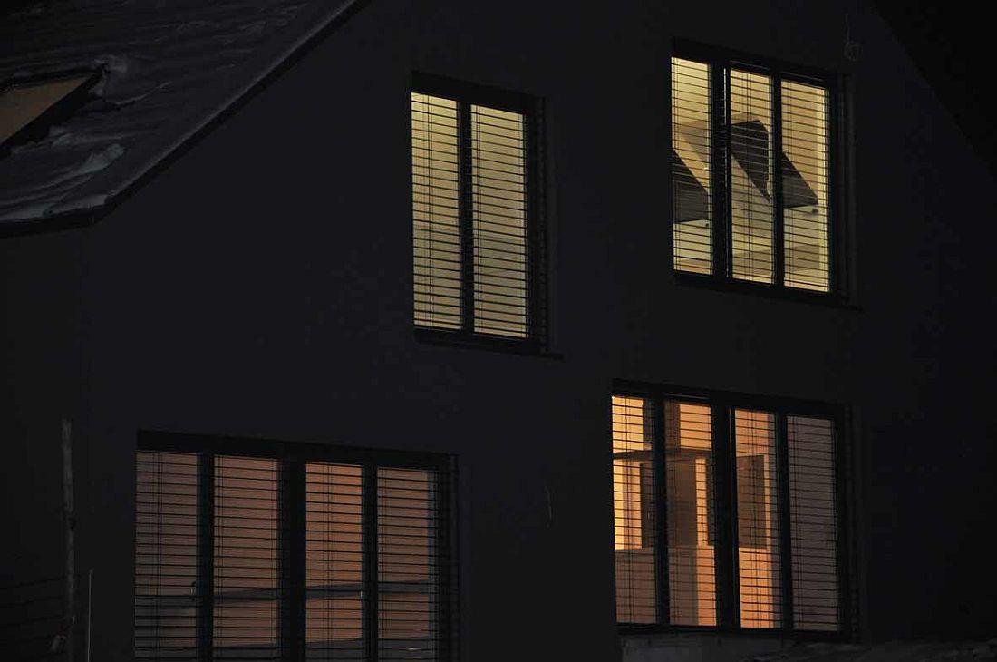 Ludwigsburg / Hohenasperg Neubauprojekt EFH: Außenansicht Nacht