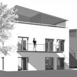 10-Familienhaus mit Tiefgarage, Raum Stuttgart, Front
