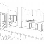10-Familienhaus mit Tiefgarage, Raum Stuttgart, Entwurfsplanung innen