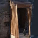 Buddha Rahmenkonstruktion Eingang