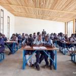 Holzkonstruktion Schule Afrika innen