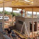 Südafrika Holzbauprojekt Baustelle