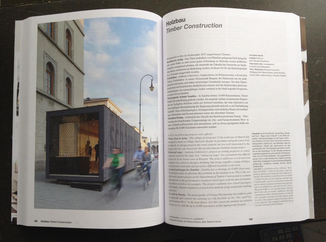 Holzbau Ausschnitt Jahrbuch TUM 2013